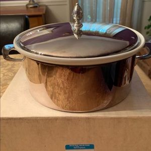 Reed and Barton silverplate casserole with cover.
